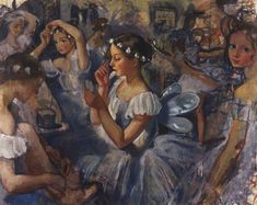 Zinaida Serebriakova Girls Sylphides (Ballet Chopiniana) 1924