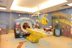 "Yellow Submarine CT scanner. ""Children's Hospitals Make Room for Mom, Dad and Diversions "" - article from Wall Street Journal discusses voluntary guidelines going into effect next year for new construction and renovation of children's hospitals."