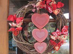 18 Valentine's Day Wreath Rustic Valentine by CreativeSpacesbyGina