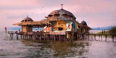 BY: Finnian Macmanus......Stilt-house...... Click on image to enlarge....