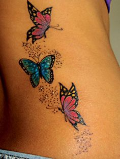 100 Fabulous Butterfly Tattoo Designs That Will Make You Crazy Check more at http://lucky-bella.com/butterfly-tattoo/