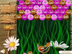 Woobies game online, Shoot into balls