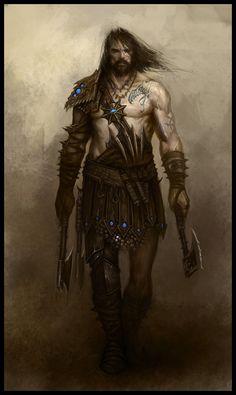 Marauder NPC - EA Mythic, © Games Workshop  Barbarian chief