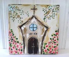 Blessed Church Original  Bronwyn Hanahan Art by BronwynHanahanArt, $135.00