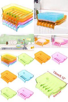 [Visit to Buy] Bathroom Draining Soap Box Kitchen Sink Sponge Drainage Dish Holder T15 #Advertisement