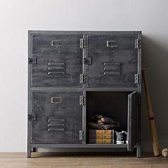 old metal locker vintage wrought iron four bucket cabinet