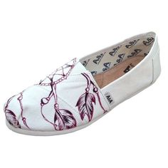 A&A Hand-Painted Dream Catcher Espadrille Flats Canvas Alpargatas