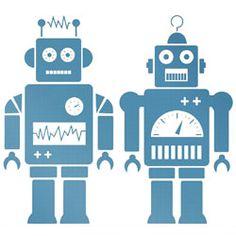 muursticker robot ~ meep moop