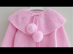 Crochet Flower Patterns, Baby Knitting Patterns, Crochet Flowers, Knitted Baby Clothes, Crochet Clothes, Knitting For Kids, Hand Knitting, Knitting Videos, Baby Girl Dresses
