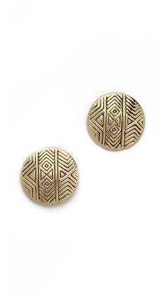 mosaic stud earrings / house of harlow