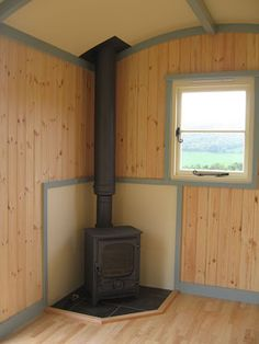 the Standard Shepherd's Hut from the Shepherd's Hut Company, manufacturers of the finest mobile timber cabins. Sauna House, Hut House, Party Shed, Stove Installation, Camping Pod, Innovative Office, Timber Cabin, Shepherds Hut, Build Your Own House