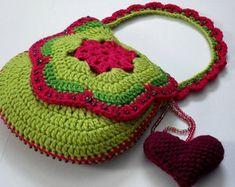 INSTANT PATTERN DOWNLOAD - Crocheted Purse / Bag Pattern (Tutti Frutti No. tf-004) (Downloadable Digital Pattern - pdf)