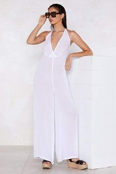 0d808eaf3a1 Nasty Gal Let s Take a Wide-Leg Jumpsuit Jumpsuit Dressy