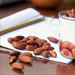 Almonds are a high-protein snack