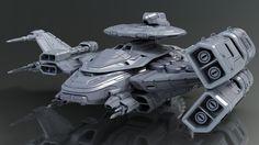 Destiny Ship, Travis Brady on ArtStation at https://www.artstation.com/artwork/brJqk