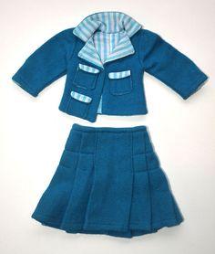"""RESERVED Authentic Vintage 1965/66 FURGA Tre Esse Alta Moda Italian Fashion Haute Couture doll """"The Con Le Amiche"""" 8802 Two-Piece SUIT"""