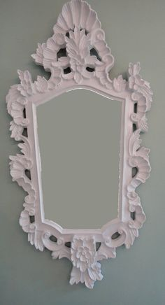 Hollywood Regency Mirror Rococo White Lacquer by tweakedhome, $120.00
