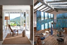 Professional color forecaster Pepa Poch creates pigment-rich canvases in a whitewashed country cottage on Spain's Costa Brava