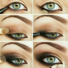perfect smokey color for green eyed brides #beauty #weddingmakeup #greeneyes
