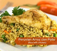 Today I cooked arroz con pollo for my guys - that's rice with chicken. It's a staple of pretty much every Latin American country, although they've all got their own special take on it. In Peru cook...