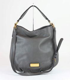 MARC JACOBS Faded Aluminum Leather New Q Hillier Hobo Bag  MARCJACOBS  Hobo   gift  leather  designerhandbag. 5th thrift · Marc Jacobs Handbags d58c8a856adb3