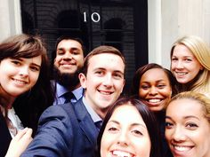 A selection of apprentices visit 10 Downing St