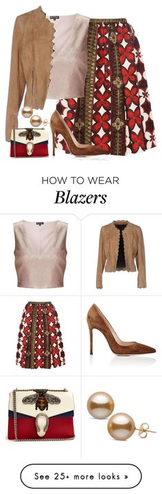 """""""Untitled #2353"""" by shell26 on Polyvore featuring Valentino, Miss Selfridge, Barbara Bui, Gianvito Rossi and Gucci"""