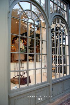 Arched multipane windows!