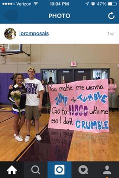 Cute cheerleading way to ask out to prom