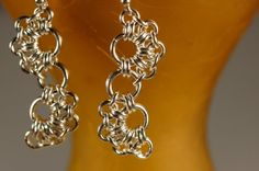 Octopus Lace Bracelet and Earring Set Chain Maille in by cMaille