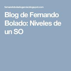 Blog de Fernando Bolado: Niveles de un SO