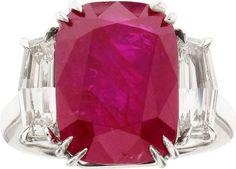 Ruby, Diamond, Platinum Ring. 110,000.00 dollars