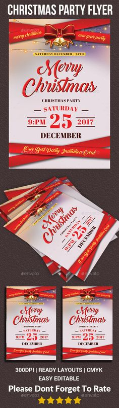 Christmas Flyer - Holidays Events Features : - Editable in adobe photoshop - Professional design - Uses free fonts - All objects, colors, & text are editable - Easy to Edit - Print Ready [CMYK]