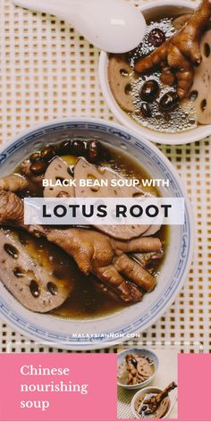 World healthiest food | Black bean soup recipe | Lotus root | Chinese soup | More recipes @malaysian_mom