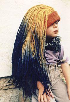 Wild, Wacky and Wonderful: 10 Free Crochet Wig Patterns! Felt Hat, Wool Felt, How To Make Dreads, Wool Dreads, Dreadlocks, Diy Wig, Wig Hat, Alternative Hair, Fabric Yarn