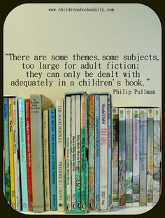 nice quotes about children reading by phillip Pullman. His book,Ruby in the Smoke is one of my favorites!