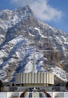 Provo Temple with Squaw Peak - http://www.everythingmormon.com/provo-temple-with-squaw-peak/  #mormonproducts #LDS #mormonlife