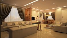 Living Room Interior Design, Furnishing in Kerala, Bangalore DLIFE Interior Design Living Room, Living Room Designs, Living Room Furniture, Living Room Decor, Living Area, Living Spaces, False Ceiling Living Room, Rich Home, Interior Design Companies