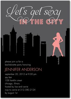 "Throw a ""Sex in the City"" themed bachelorette party with your favorite ladies!"