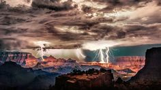 Lightning storm over Grand Canyon National Park, Arizona by Scott Stulberg
