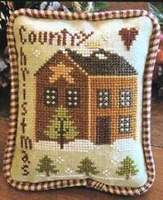COUNTRY CHRISTMAS CROSS STITCH ORNAMENT OF THE MONTH #9-LITTLE HOUSE NEEDLEWORKS like the piped finish