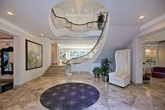I can sooo se my daughter walking down this staircase for prom 😍