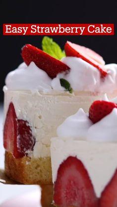 Strawberry Desserts, Köstliche Desserts, Delicious Desserts, Yummy Food, Fun Baking Recipes, Sweet Recipes, Comida Diy, Dessert Pizza, Desert Recipes