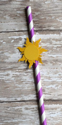 Tangled straws Rapunzel straws Princess by SprinkledCelebration