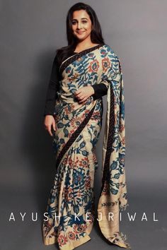 Vidya Balan in a Kalamkari Saree By Ayush Kejriwal For purchases email me at designerayushkejriwal@hotmail.com or what's app me on 00447840384707 We ship WORLDWIDE. Instagram - designerayushkejriwal #vidyabalan Sambalpuri Saree, Kalamkari Saree, Ethnic Fashion, Indian Fashion, Indian Dresses, Indian Outfits, Indian Party Wear, Indian Wear, Kalamkari Designs