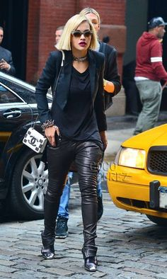 Rita Ora is having a leathery luscious moment on the streets of NYC!