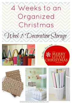 4 Weeks to an Organized Christmas - starting with Decoration Storage.