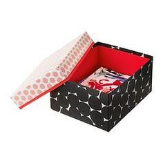 KVITTRA Caja con tapa - negro, 32x25x20 cm - IKEA