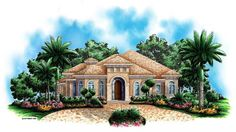 Florida Mediterranean House Plan 60512 Elevation