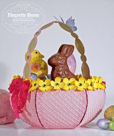 """""""New"""" Flower Basket SVG Project Kit"""